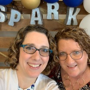Esther Littlefield and Christa Hutchins at Spark