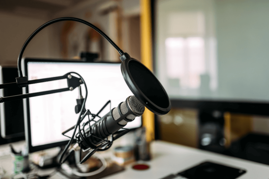tech equipment for launching a podcast