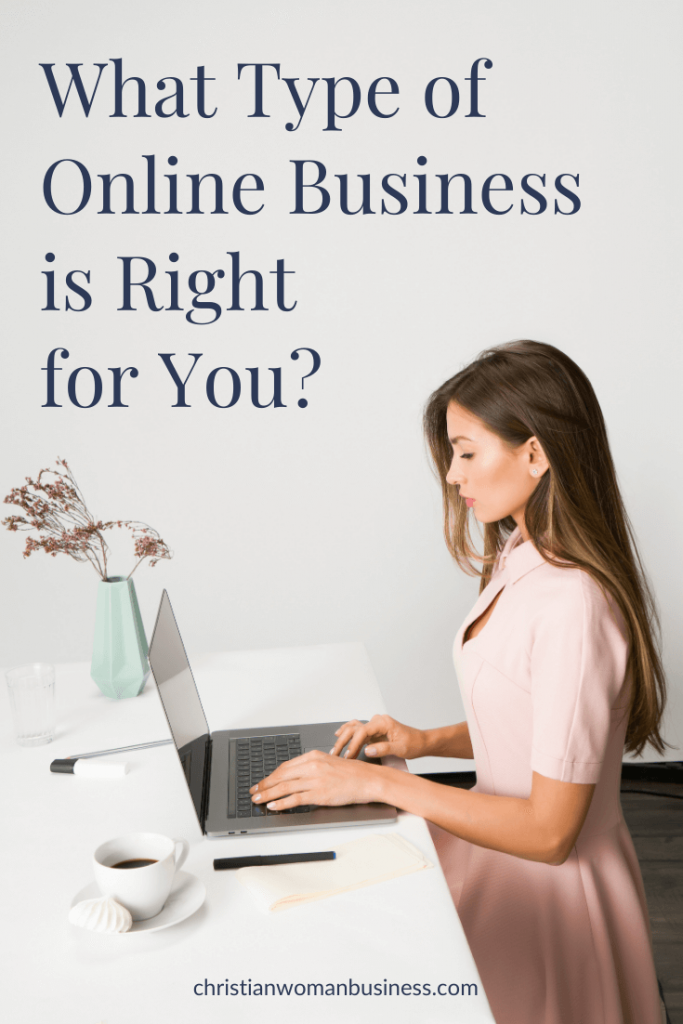 woman standing at desk - what type of online business is right for you